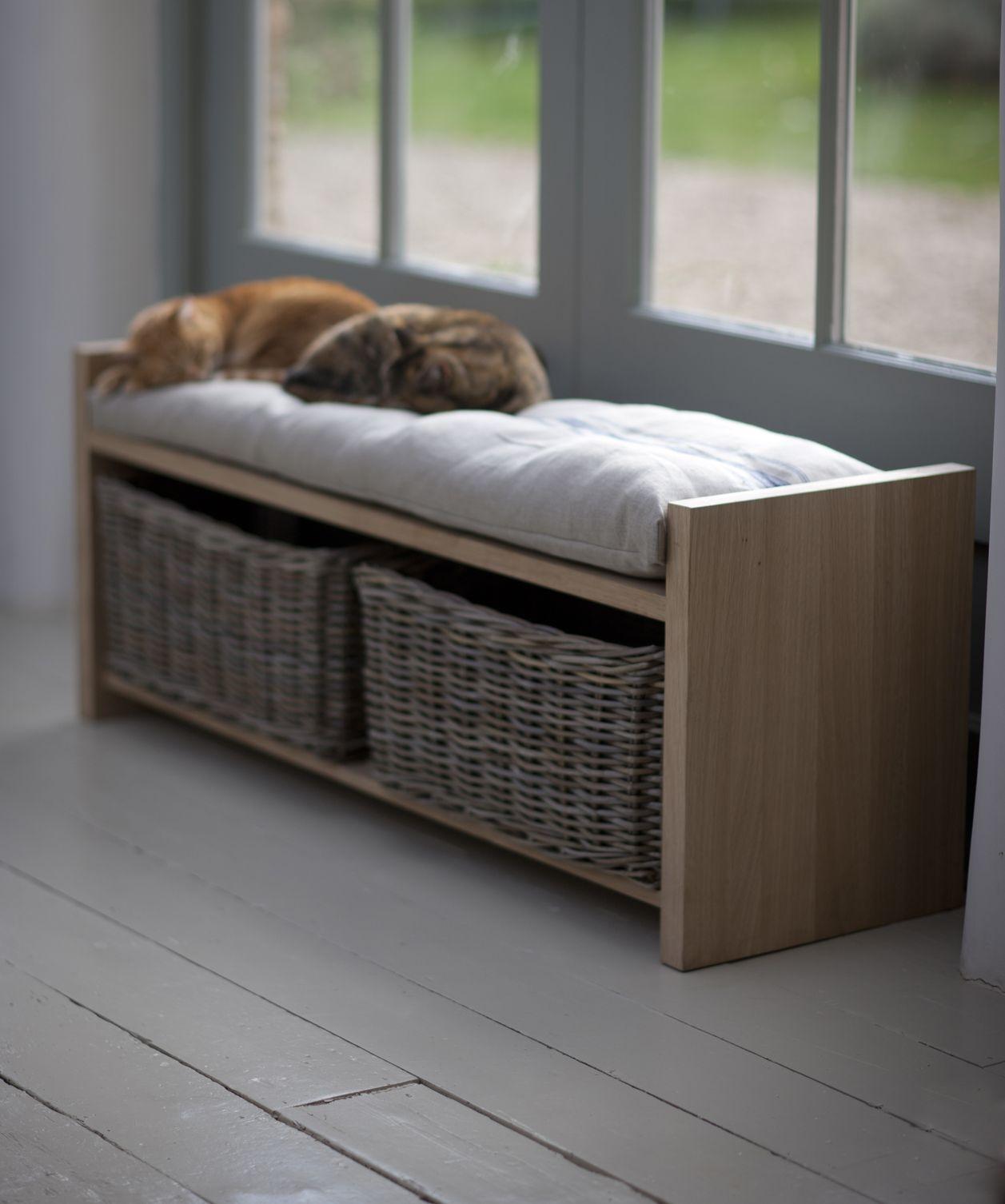 Oak storage benches & Oak Storage Benches - Foter