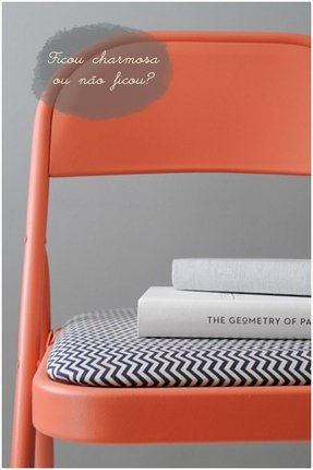 Orange folding chairs 17