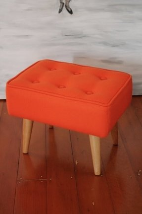 Orange footstools 11