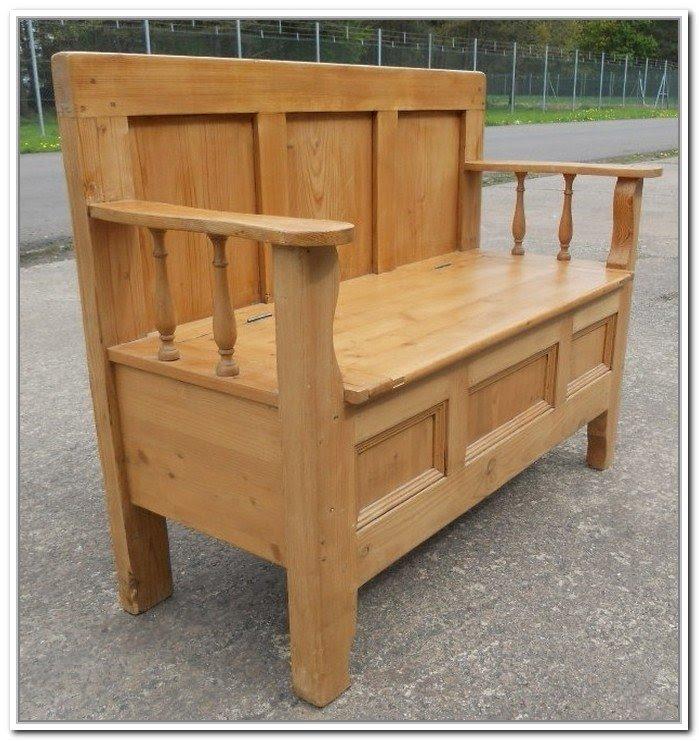 Pine Storage Benches 6