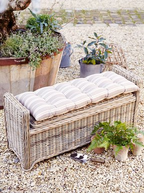 Awe Inspiring Rattan Storage Benches Ideas On Foter Pabps2019 Chair Design Images Pabps2019Com