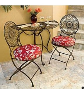 Round bistro table set