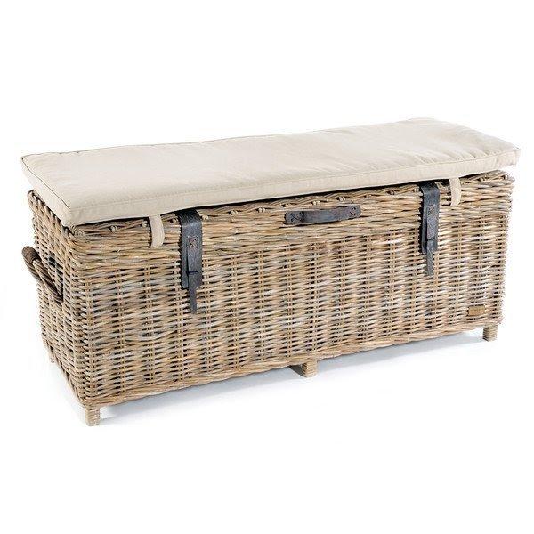 Rowico Maya Rattan Storage Bench