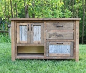 Rustic vanity reclaimed barn wood wbarn