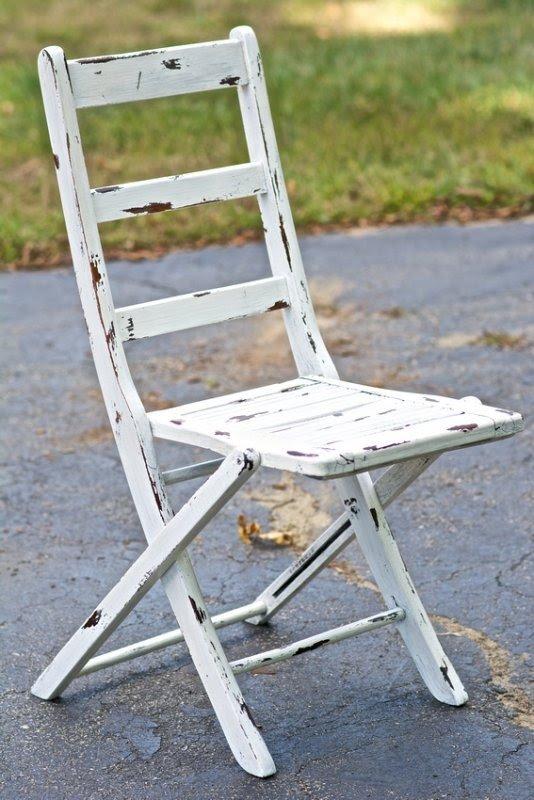 Shabby Chic Folding Chairs 6