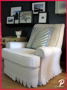 Shabby chic slipcovers for wingback chairs