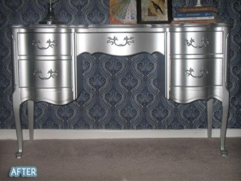 Silver Vanity Table