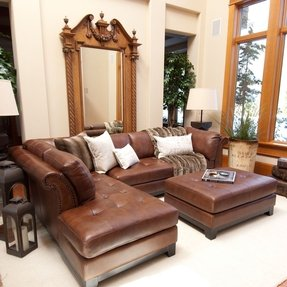 Snow chalet corsario leather sectional sofa