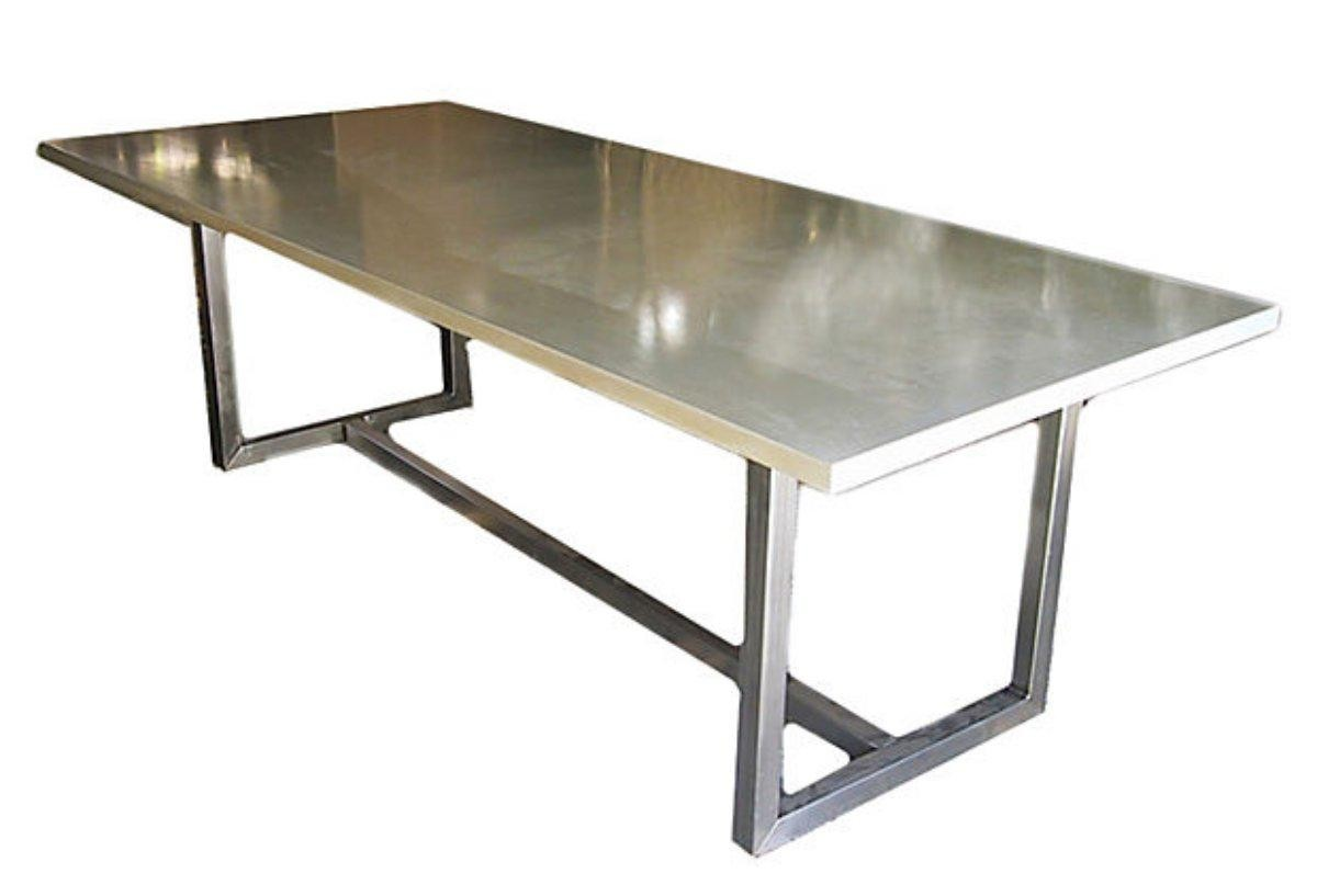 Delightful Stainless Steel Dining Table