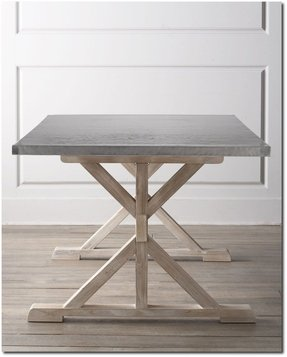 Stainless Steel Top Dining Table For