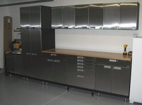 Stainless steel wall cabinets kitchen