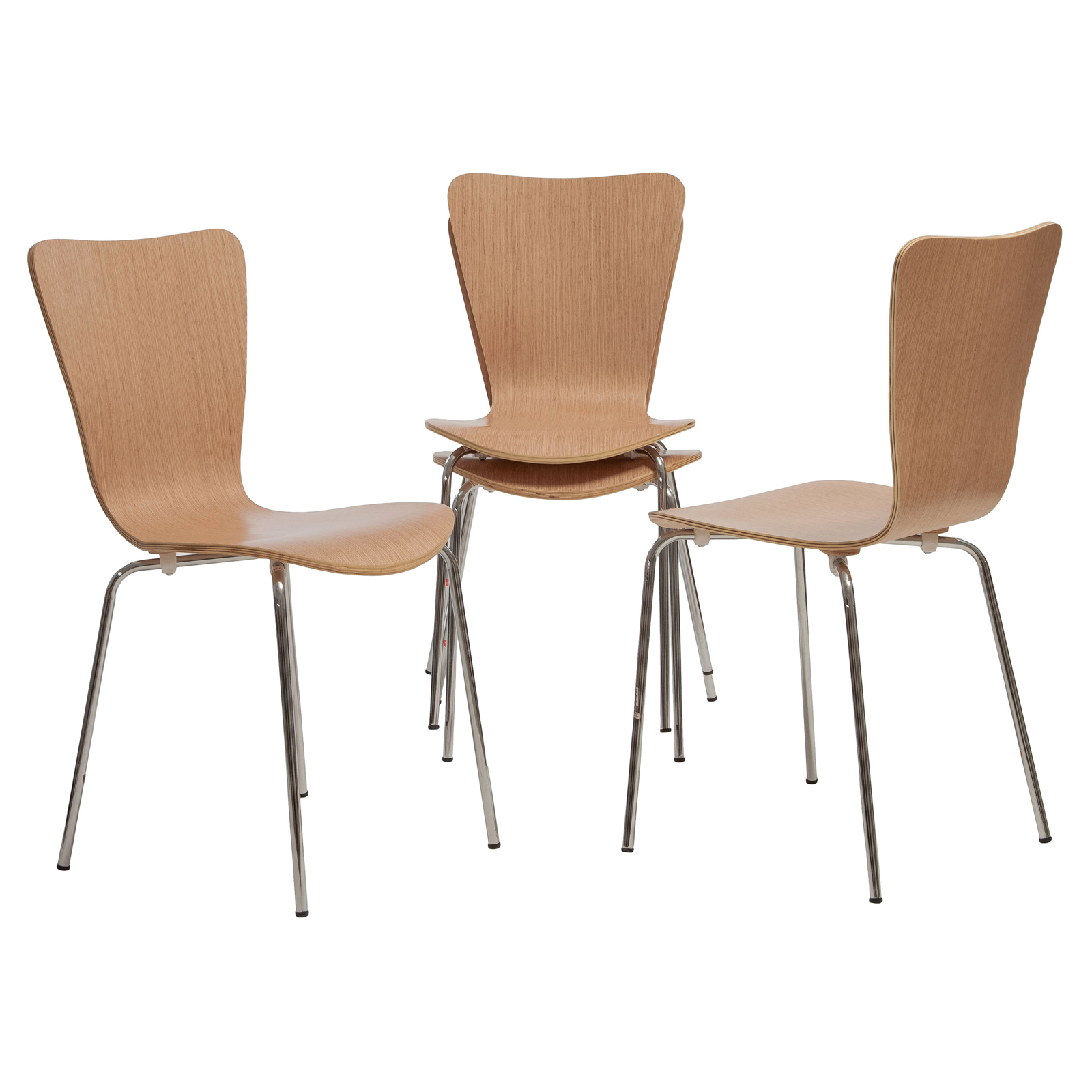 Steel stacking chairs 2