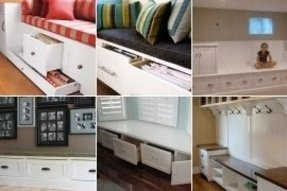 Storage benches with drawers