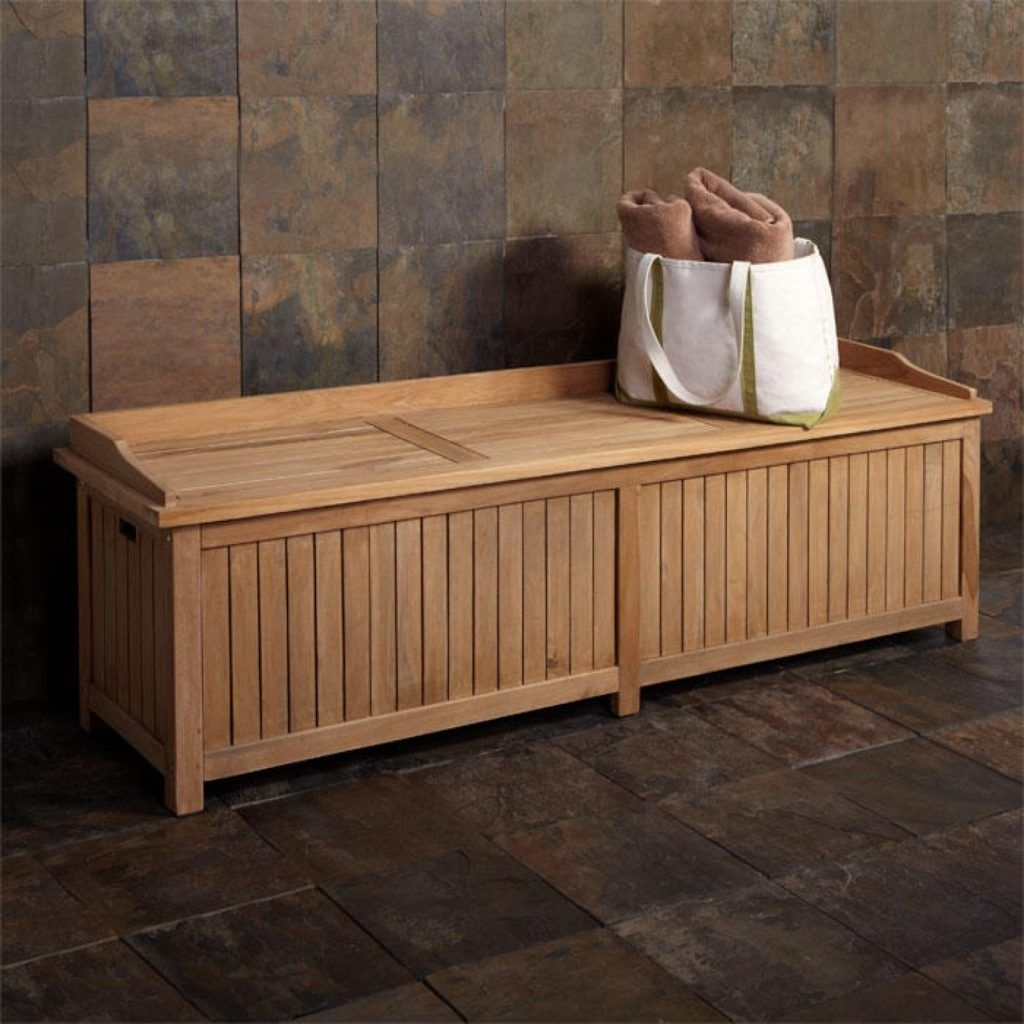 Teak Storage Benches