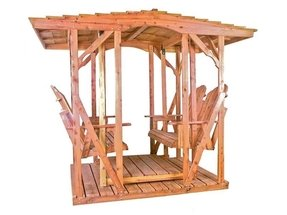 The double canopy glider aromatic red cedar amish construction customizable