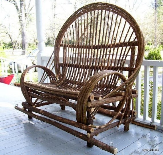 Superieur Twig Willow Porch Swing Hand Crafted