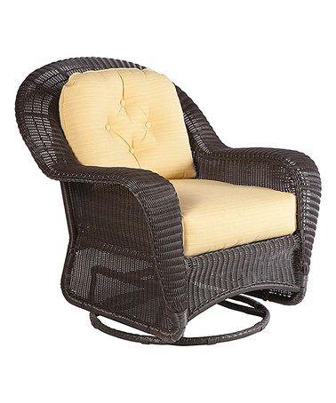 Wicker Glider Chair