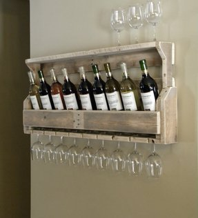 Wall Mounted Wine Rack And Glass Holder Ideas On Foter