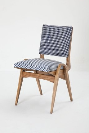 Wooden upholstered folding chairs