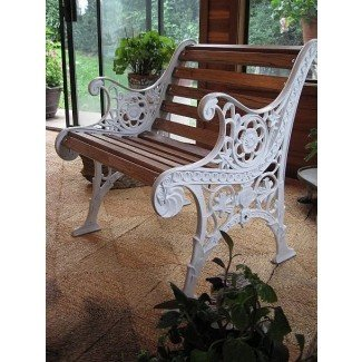 Outstanding Wrought Iron Patio Benches Ideas On Foter Evergreenethics Interior Chair Design Evergreenethicsorg