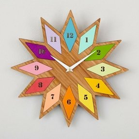 Bamboo wall clocks 11