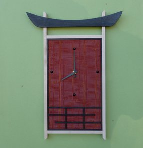 Contemporary asian wall clock 4