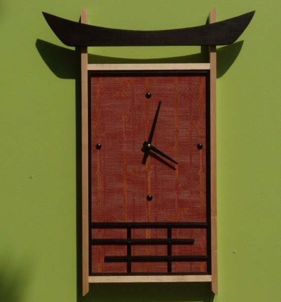 Contemporary asian wall clock 5