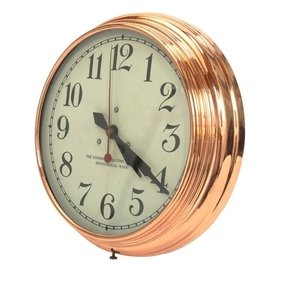 Copper Wall Clock Standard Electric Time Company