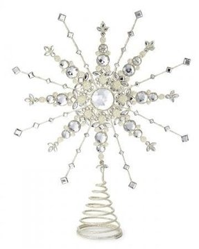 Crystal christmas tree topper