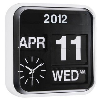 Day date wall clock