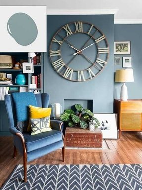 Blue Wall Clocks Foter