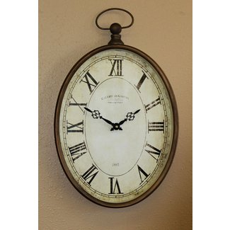 Gallerie de gaston vintage metal pocket watch large wall clock