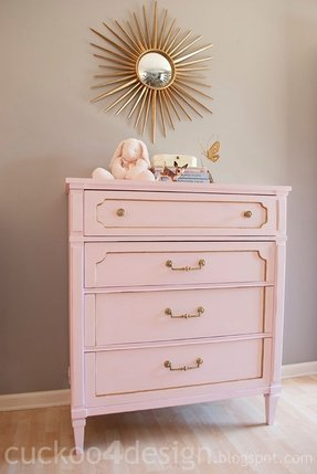Decorate Your Little S Room Beautifully By Choosing Charming Accents Like This Stunning Dresser Painted In The Baby Pink Finish And Sporting