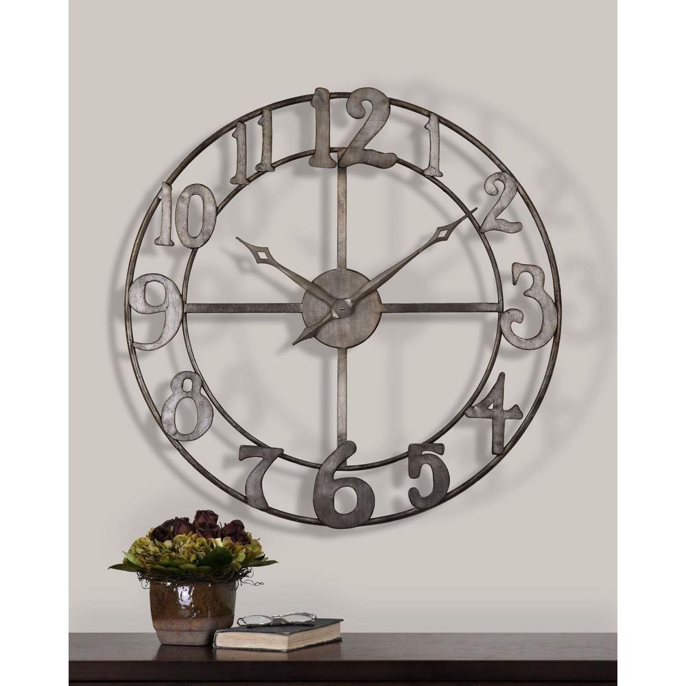 Large Black Wall Clock 1