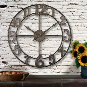 Oversized Metal Wall Clock Foter