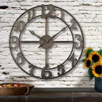 Large iron clock roman numerals