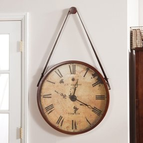 Leather wall clocks 1