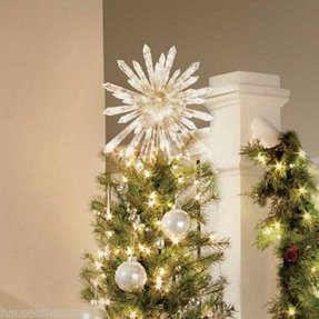 lighted crystal tree topper - Lighted Christmas Tree Toppers