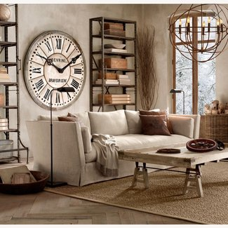 Metal wall clock roman numerals