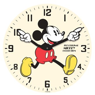 Mickey Mouse Glass Wall Clock