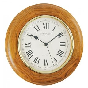 Oak wall clock 2