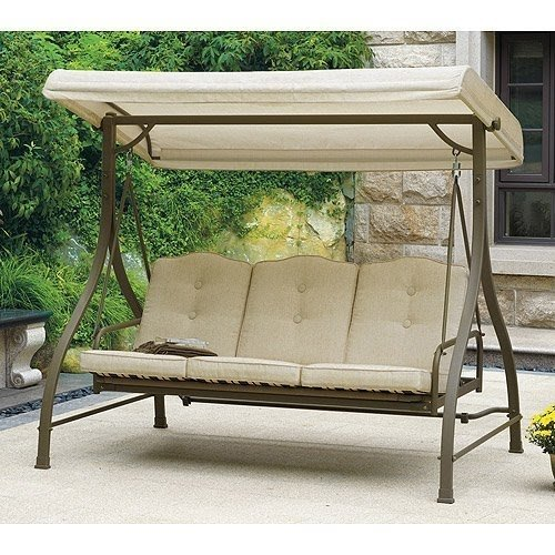 Outdoor Swing / Hammock, Tan, Seats 3. Porch U0026 Patio Swings Give Extra
