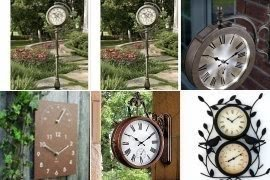 Captivating Outdoor Wall Clock And Thermometer
