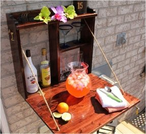Patio serving table