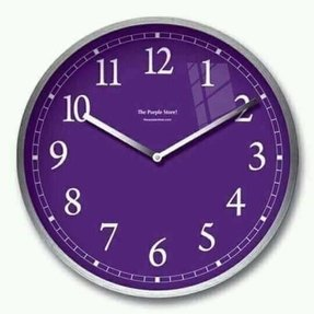 Purple wall clock 1