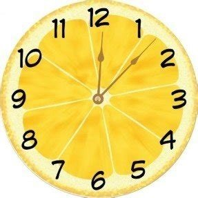 "Rikki Knight Yellow Lemon Slice Deco Design 10"" Wall Clock - **Proudly Made in the USA**"