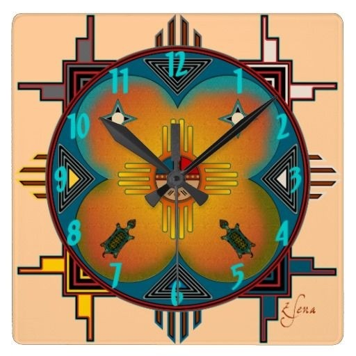 Southwestern wall clocks
