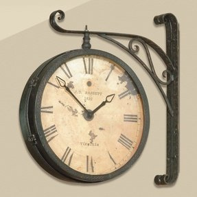 Station style wall clocks