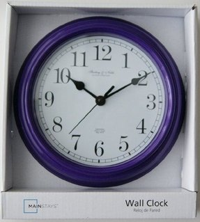 "Sterling & Noble 8.75"" Wall Clock- (Purple)"