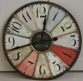 Very Large Giant Wall Clock Super Sized Retro Splendid Vintage